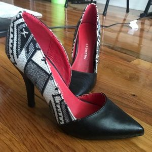 DSW Black and White Heels